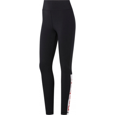 Reebok Funktionstights »LINEAR LOGO LEGGINGS«, schwarz, Gr.44/46-56/58