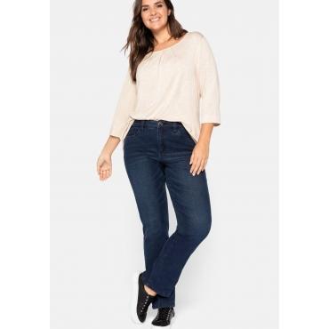 Gerade Jeans mit Formbund und Push-up-Effekt, dark blue Denim, Gr.44-58