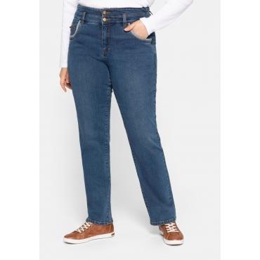 Gerade Jeans mit High-waist-Formbund, stretch, blue Denim, Gr.44-58