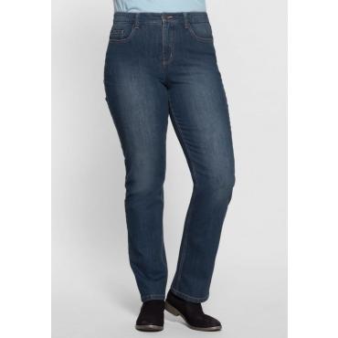 Große Größen: Gerade Shaping Stretch-Jeans LANA, blue Denim, Gr.22-104