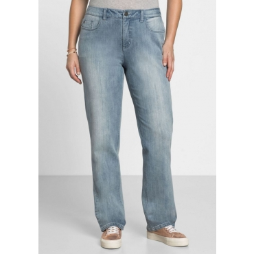 Große Größen: Gerade Shaping Stretch-Jeans LANA, light blue Denim, Gr.40-58