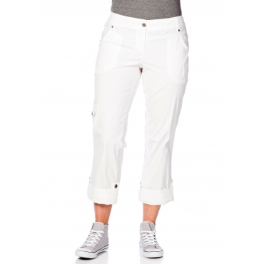 Gerade Stretch-Hose mit Eingrifftaschen, weiß, Gr.21-104