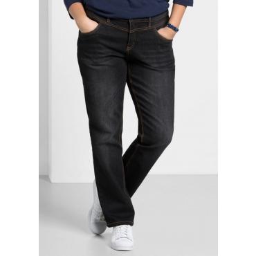 Große Größen: Gerade Stretch-Jeans LANA, black Denim, Gr.21-116