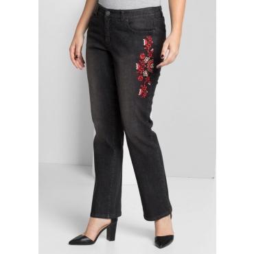 Große Größen: Gerade Stretch-Jeans LANA, black Denim, Gr.40-58