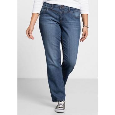 Große Größen: Gerade Stretch-Jeans LANA, blue Denim, Gr.21-116