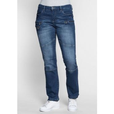 Große Größen: Gerade Stretch-Jeans LANA, blue Denim, Gr.21-104