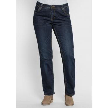 Große Größen: Gerade Stretch-Jeans LANA, dark blue Denim, Gr.20-116