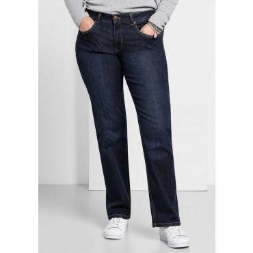 Große Größen: Gerade Stretch-Jeans LANA, dark blue Denim, Gr.40-116