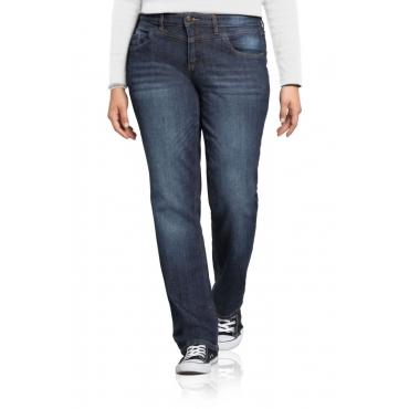Große Größen: Gerade Stretch-Jeans LANA, dark blue Denim, Gr.21-116