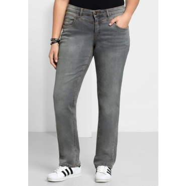 Große Größen: Gerade Stretch-Jeans LANA, grey Denim, Gr.21-116