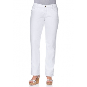 Große Größen: Gerade Stretch-Jeans LANA, white Denim, Gr.21-116