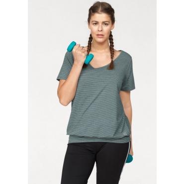 Große Größen: H.I.S T-Shirt (Spar-Set, 2er-Pack), schwarz-petrol, Gr.44/46-56/58