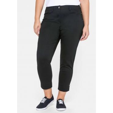 Hose schmal in 7/8-Länge, aus elastischem Jersey, schwarz, Gr.44-58