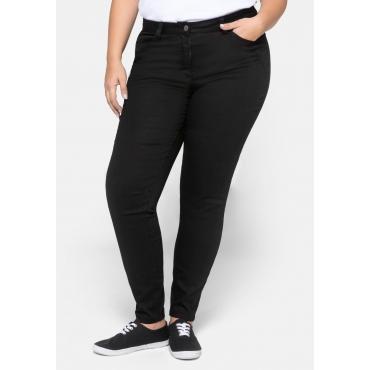 Hose Super Skinny mit Formbund, aus Twill, schwarz, Gr.44-58
