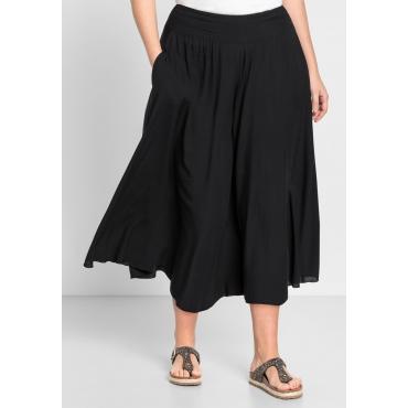 Große Größen: Hosenrock mit zwei Taschen, schwarz, Gr.44-58
