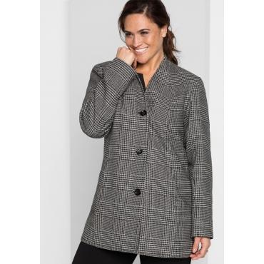 Große Größen: Jacke im Glencheck-Muster, schwarz-grau, Gr.44-58