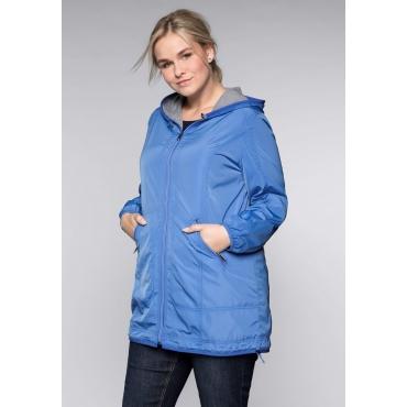 Große Größen: Jacke in leichter, wasserabweisender Qualität, azurblau, Gr.44-58