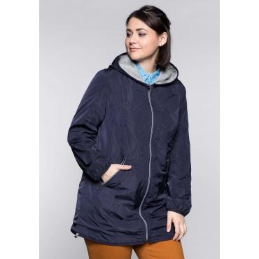 Große Größen: Jacke in leichter, wasserabweisender Qualität, marine, Gr.44-58