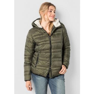 Große Größen: Jacke mit fester Kapuze, dunkelkhaki, Gr.40-58
