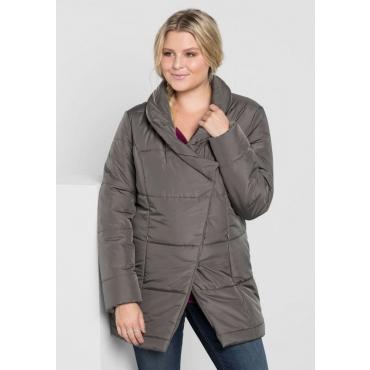 Große Größen: Jacke mit Schalkragen, dunkelgrau, Gr.40-58