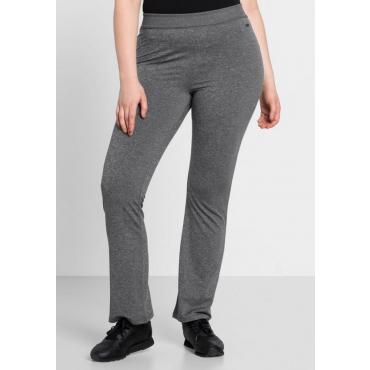 Große Größen: Jazzpants mit breitem Bund, grau meliert, Gr.44-58