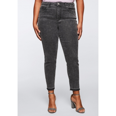 Jeans aus Power Stretch; Moonwashed Optik, grey Denim, Gr.44-58