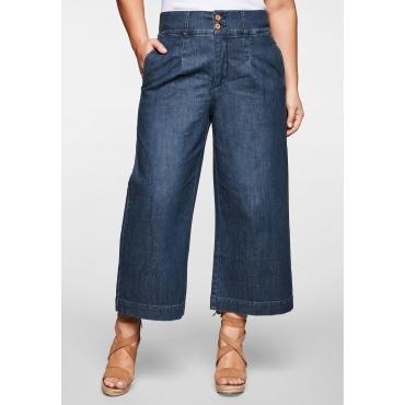 Jeans-Culotte in 7/8-Länge mit Gummizug hinten, blue Denim, Gr.44-58
