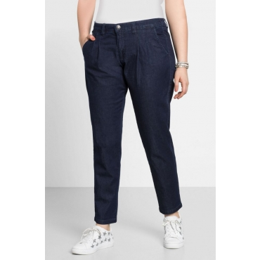 Große Größen: Jeans im Chino-Schnitt, dark blue Denim, Gr.22-104