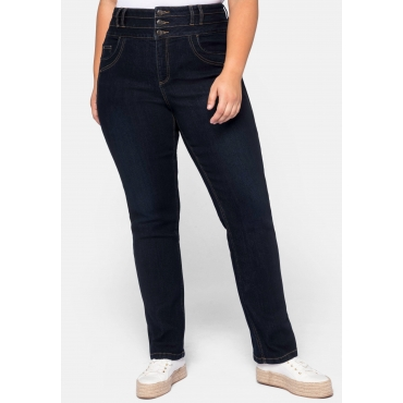 Jeans LANA gerade, mit High-Waist-Bund, dark blue Denim, Gr.44-58