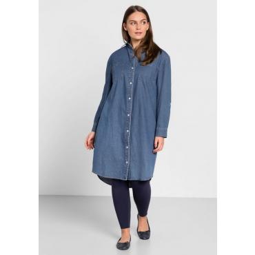 Große Größen: Jeans-Blusenkleid, blue Denim, Gr.44-58