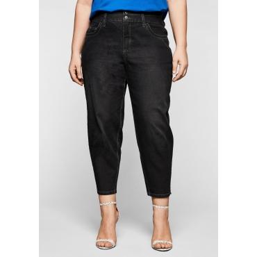 Jeans mit ballonförmigem Bein, in 7/8-Länge, black Denim, Gr.44-58