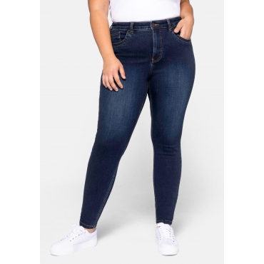 Jeans Super Skinny in superelastischer Qualität, dark blue Denim, Gr.44-58