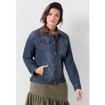 Jeansjacke im klassischen Stil, blue Denim, Gr.40-58