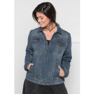 Große Größen: Jeansjacke mit zwei Brusttaschen, light blue Denim, Gr.40-58