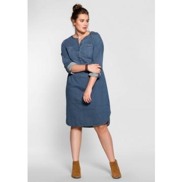Große Größen: Jeanskleid in weich fließender Qualität, blue Denim, Gr.40-58