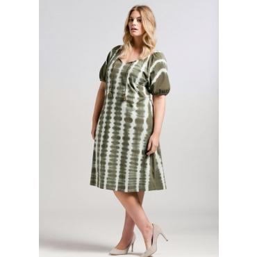Große Größen: Jerseykleid im Batik-Look, dunkelkhaki, Gr.44-58