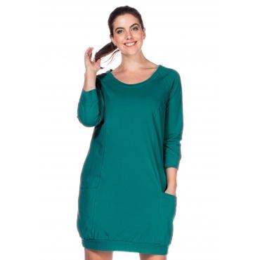 Große Größen: Jerseykleid mit 3/4-Raglanärmeln, azurgrün, Gr.40-58