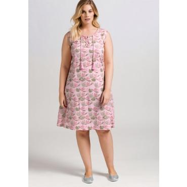 Große Größen: Jerseykleid mit Alloverdruck, cremerosé, Gr.44-58
