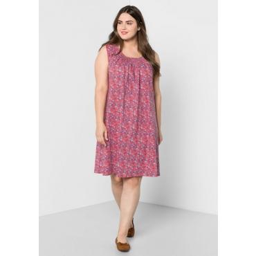Große Größen: Jerseykleid mit Alloverdruck, guave, Gr.44-58