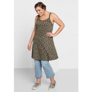 Große Größen: Jerseykleid mit Alloverdruck, khaki bedruckt, Gr.44-58