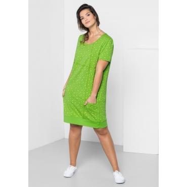 Große Größen: Jerseykleid mit Alloverdruck, kiwi, Gr.40-58