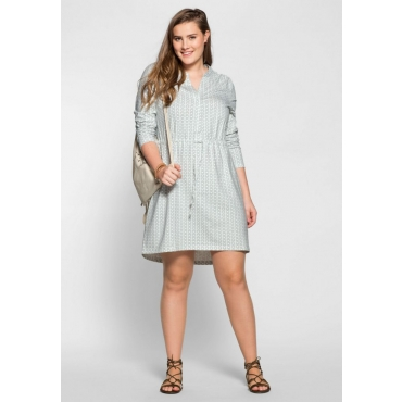 Große Größen: Jerseykleid mit Alloverdruck, offwhite bedruckt, Gr.40-58