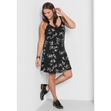 Große Größen: Jerseykleid mit Alloverdruck, schwarz, Gr.40-58