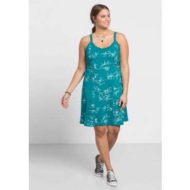 Große Größen: Jerseykleid mit Alloverdruck, türkis, Gr.40-58
