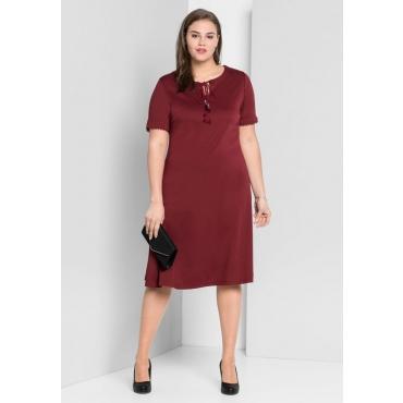 Große Größen: Jerseykleid mit Bindeband, bordeaux, Gr.44-58