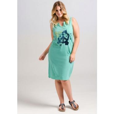 Große Größen: Jerseykleid mit Frontdruck, minze, Gr.44-58