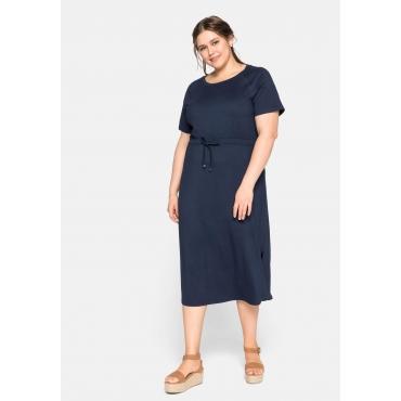 Jerseykleid mit Raglanärmeln und Tunnelzug, nachtblau, Gr.44-58