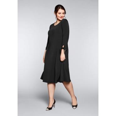 Große Größen: Jerseykleid mit schwingendem Rockteil, schwarz, Gr.44-58
