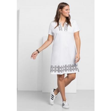 Große Größen: Jerseykleid, weiß, Gr.40-58