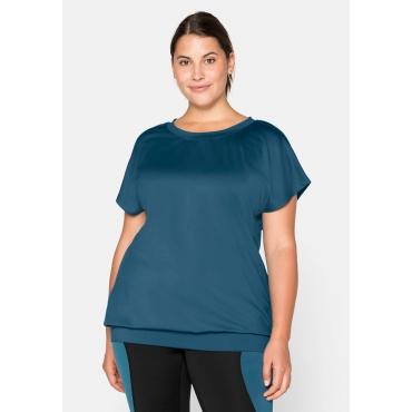 Jerseyshirt aus Funktionsmaterial, petrol, Gr.44/46-56/58